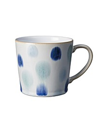 Blue Spot Painted Large Mug