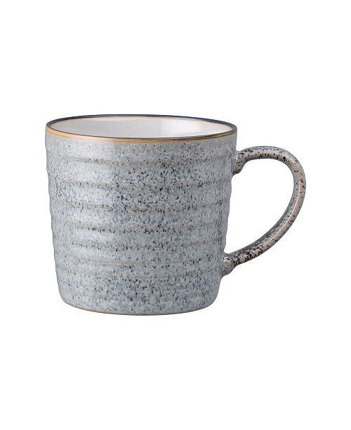 Denby Studio Craft Grey Ridged Mug