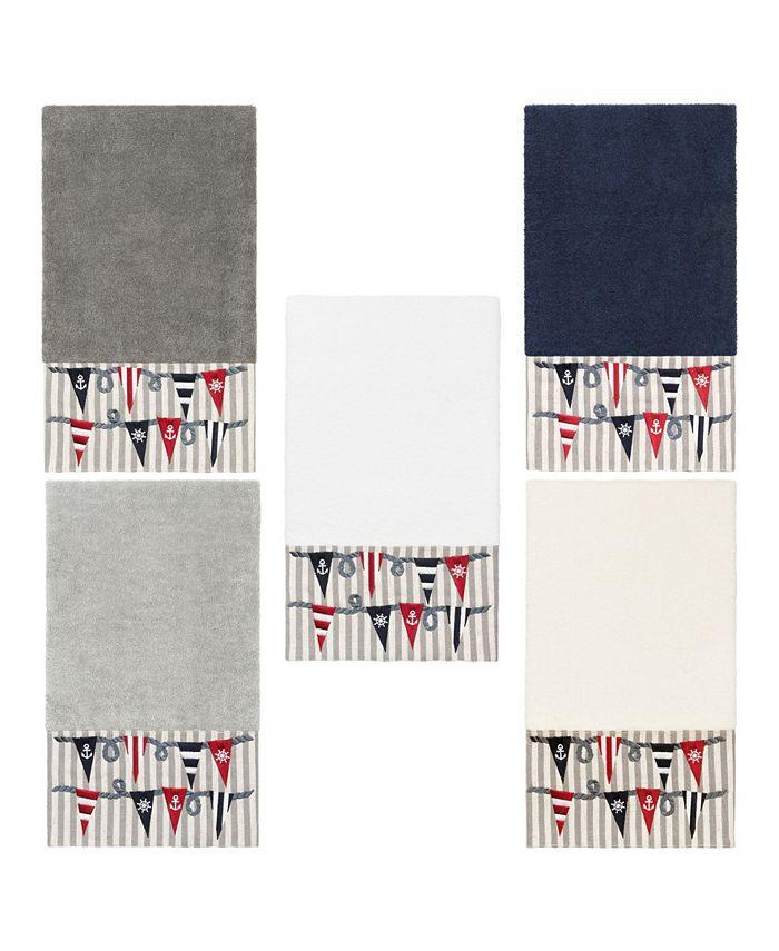 Linum Home - 100% Turkish Cotton Ethan Embellished Bath Towel