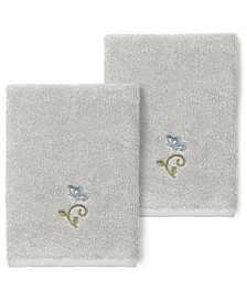 100% Turkish Cotton Rebecca 2-Pc. Embellished Washcloth Set