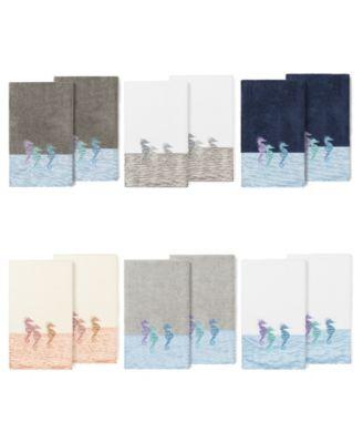100% Turkish Cotton Sofia 2-Pc. Embellished Bath Towel Set