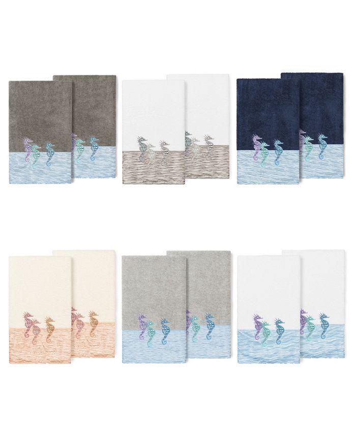 Linum Home - 100% Turkish Cotton Sofia 2-Pc. Embellished Bath Towel Set