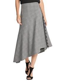 DKNY Logo-Trim Asymmetrical Skirt