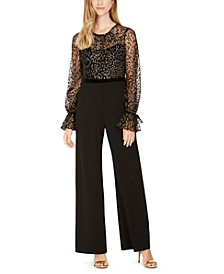 Glitter-Velvet Illusion Jumpsuit