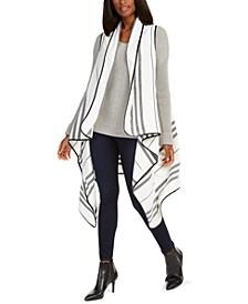 Striped Hi-Low Vest