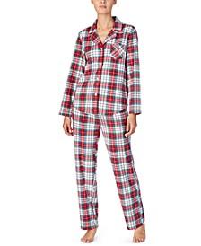 Petite Printed Fleece Pajama Set