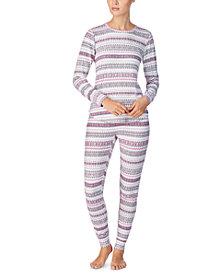 Lauren Ralph Lauren Printed Sweater-Knit Pajama Set