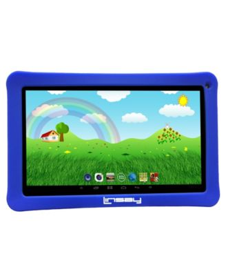 "Linsay 10.1"" New Kids Funny Tablet 16 GB Android 6.0 with Defender Case 1024 x 600 HD"