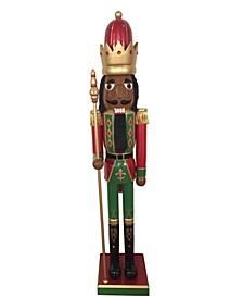 """60.5"""" Black Bejeweled King Nutcracker"""