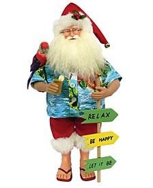 """15.5"""" Buffet Beach Santa Claus"""