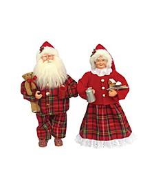 """15.5"""" Pajama Mr. and Mrs. Claus Set"""