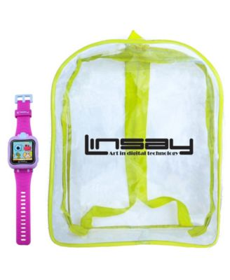"Linsay 1.5"" Kids Smart Watch Cam Selfie with Bag Pack"
