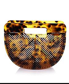Cheetah Vintage-Like Style Acrylic Clutch