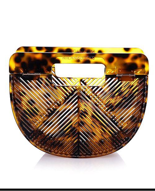 Milanblocks Cheetah Vintage-Like Style Acrylic Clutch