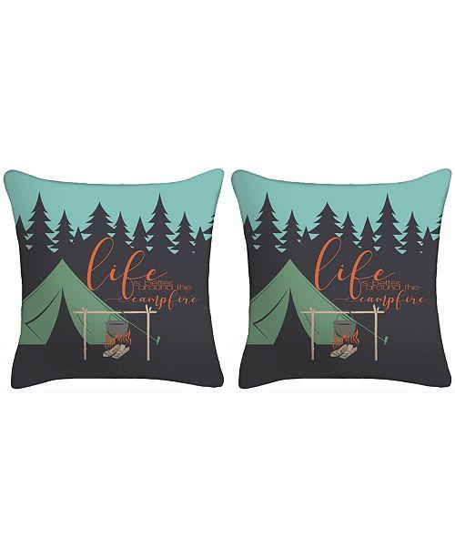 Jordan Manufacturing Set of 2- Life Is Better Around The Camp Fire Toss Pillows