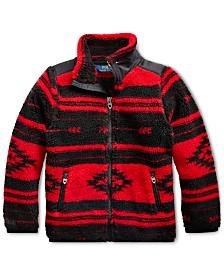 Polo Ralph Lauren Little Girls Geometric-Print Fleece Jacket