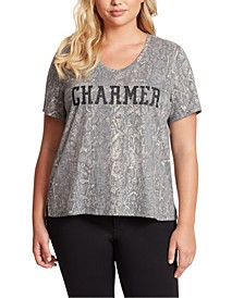 Trendy Plus Size Charmer Graphic-Print T-Shirt