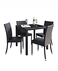 Distribution Park Terrace 5 Piece Patio Dining Set In Rope Weave