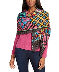 Graphic Patchwork Oblong Scarf