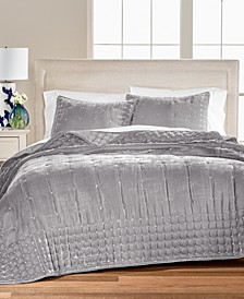 CLOSEOUT! Tufted Velvet Quilt & Sham Collection, Created for Macy's