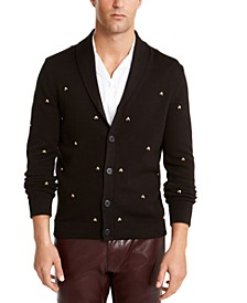 INC Men's Famous Skull Cardigan Sweater, Created For Macy's