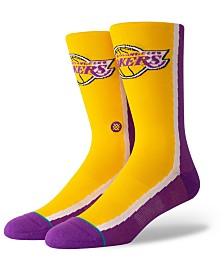 Stance Los Angeles Lakers Hardwood Classic Warmup Crew Socks