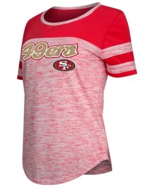 5th & Ocean Womens San Francisco 49ers Space Dye T-Shirt