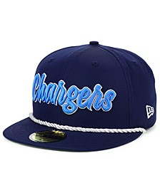 Los Angeles Chargers On-Field Sideline Home 59FIFTY Fitted Cap