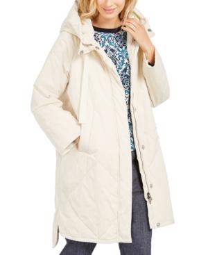 Weekend Max Mara Hooded Puffer Coat In White