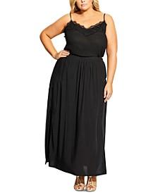 Trendy Plus Size Split Maxi Skirt