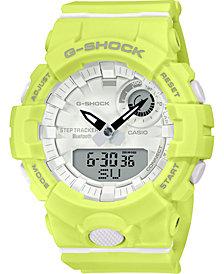 G-Shock Women's Analog-Digital Yellow Resin Strap Watch 45.2mm