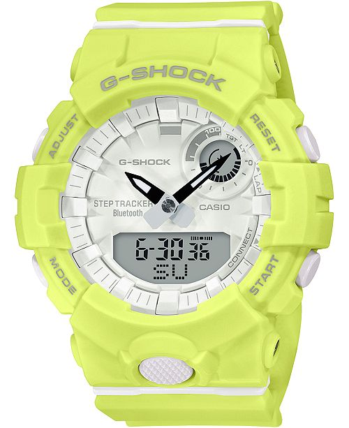 G-Shock Women's Analog-Digital Yellow Resin Strap Watch 45.2mm
