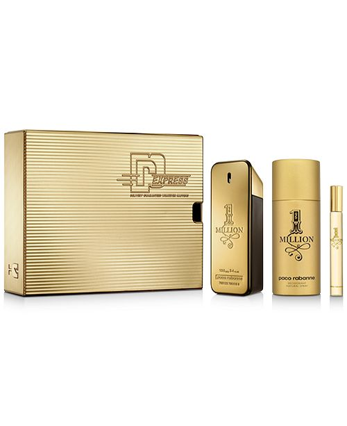 Paco Rabanne Men's 3-Pc. 1 Million Gift Set
