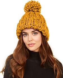 Chunky-Knit Pom Hat
