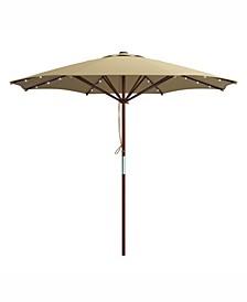 Distribution Patio Umbrella with Solar Power LED Lights