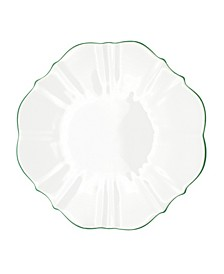 "Amelie Forest Green Rim 13"" Charger Plate"