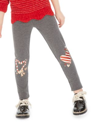Little Girls Candy Heart Leggings, Created For Macy's