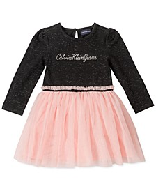 Little Girls Mesh Logo Dress