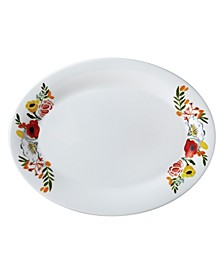 "Language of Flowers 14"" Oval Platter"