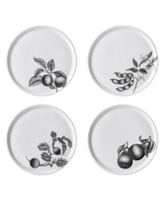 "Olive Market 6"" Bread Plates - Set of 4"