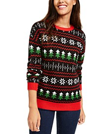 Juniors' Fair Isle Christmas Sweater