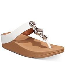 Leia Toe-Thong Sandals