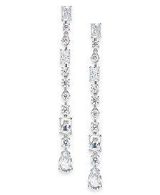 Silver-Tone Layla Crystal Linear Earrings, Created for Macy's