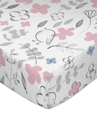 Mazie Floral Crib Sheet