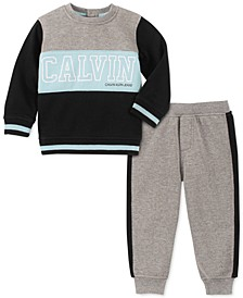 Baby Boys 2-Pc. Colorblocked Sweatshirt & Jogger Pants Fleece Set