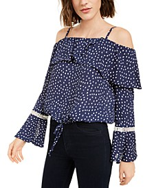 Juniors' Off-The-Shoulder Blouse