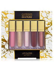 5-Pc. Glitterati Culture Lip Gloss Set