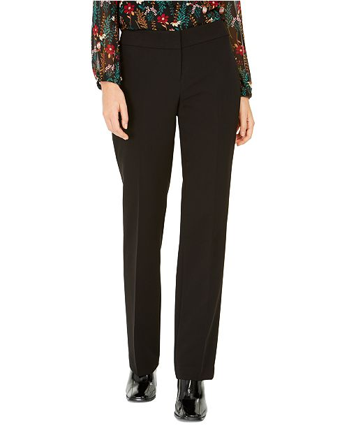 Nine West Straight-Leg Tuxedo Pants