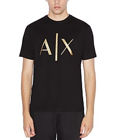 A|X Armani Exchange Men's Gold Logo T-Shirt