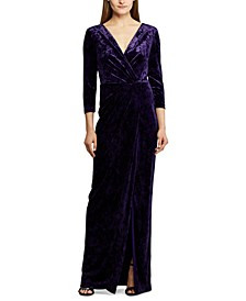 Floor-Length Velvet Dress